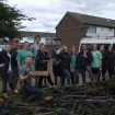 Volunteers do litter pick